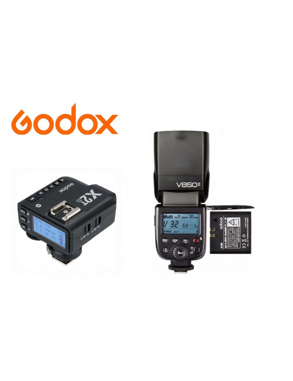 Kit flash Godox V850II de batería y disparador radio X2T dedicado