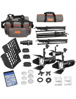 Godox S30-D - Kit 3 focos LED con modificadores de luz para fotografía y video