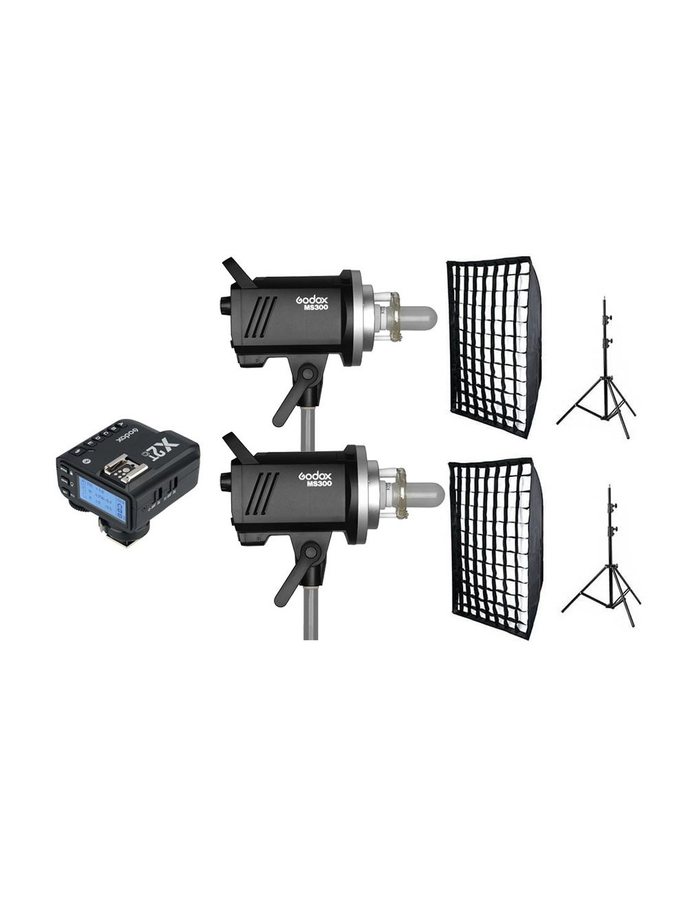 Kit 2 Godox MS300 flashes de estudio y accesorios Sony