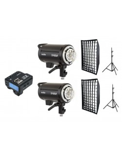Kit 2 Godox DP400III flashes de estudio y accesorios Canon