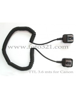 Cable TTL Canon 3,6 Metros